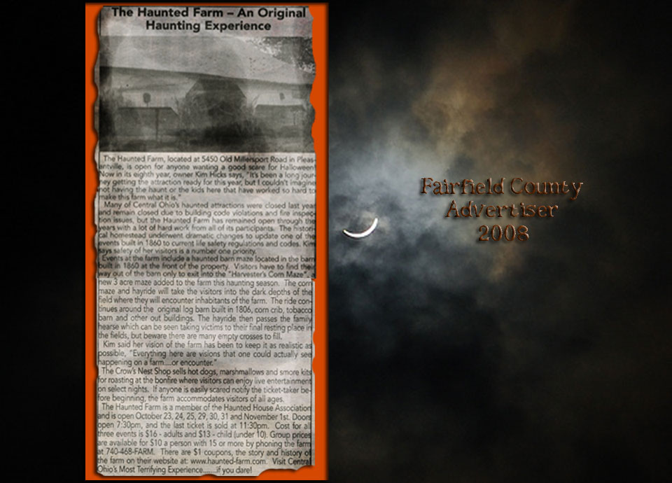 Haunted Farm Fairfield County Advertiser Article 2008